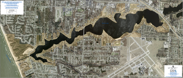 Mona Lake Aerial Photo